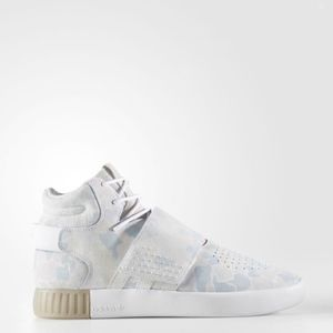 Adidas Tubular Invader Strap Men's Shoes Mgh Solid Grey/Dgh Solid